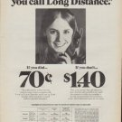 "1971 Bell Telephone Ad ""It makes a difference"""