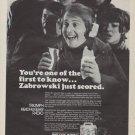 "1971 Triumph Headhugger Radio Ad ""first to know"""