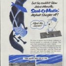 """1957 Johns-Manville Ad """"So he huffed ... and he puffed"""""""