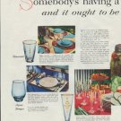 """1957 Owens-Illinois Ad """"Somebody's having a Party"""""""