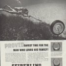 """1957 Seiberling Ad """"Proved Safest Tire"""""""