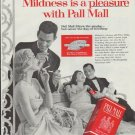 "1957 Pall Mall Ad ""Mildness is a pleasure"""