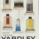 """1957 Yardley Ad """"Finest for Father's Day"""""""