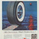 """1957 Mobil Tires Ad """"Super DeLuxe Tubeless"""""""