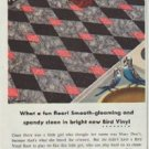 "1957 Bird Floors and Roofs Ad ""What a fun floor!"""