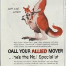 """1957 Allied Van Lines Ad """"for Dependable Packing"""""""