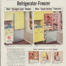 """1957 General Electric Ad """"Distinctive new General Electric"""""""
