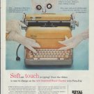 """1957 Royal Typewriter Ad """"Softest Touch"""""""