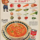 "1952 Campbell's Soup Ad ""Almost a Meal"""