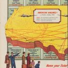"""1952 American Airlines Ad """"Name your Ticket"""""""