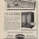 """1952 Raytheon TV Ad """"VU-matic tuning"""""""