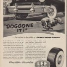 "1952 Lee Tires Ad ""Doggone It"""