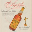 """1952 Old Taylor Ad """"a Good Whiskey"""""""