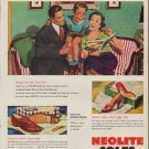 "1952 Neolite Soles Ad ""We're Junior's Sole heirs"""