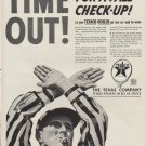 "1952 Texaco Ad ""Time Out"""