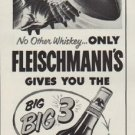 "1952 Fleischmann's Ad ""3 Big Winning Points"""