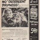 "1952 Fitch Shampoo Ad ""No ""Detergent Dryness"""""