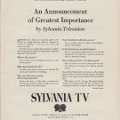 "1951 Sylvania TV Ad ""An Announcement of Greatest Importance"""