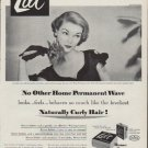 """1951 Lilt Home Permanent Ad """"Naturally Curly Hair"""""""
