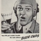 """1951 Dixie Cup Ad """"that PX girl"""""""