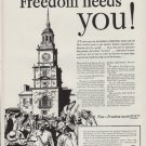 """1951 The Advertising Council Ad """"Now Freedom needs you!"""""""