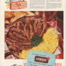 "1953 Armour Meats Ad ""fresh-made pork sausage"""