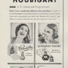 "1953 Houbigant Ad ""Perfume that Clings"""