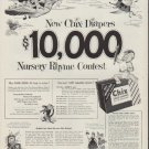 """1953 Chix Diapers Ad """"Nursery Rhyme Contest"""""""