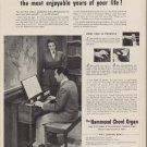 """1953 Hammond Organ Ad """"30 minutes"""""""