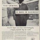 "1953 Licensed Beverage Industries Ad ""This Criminal"""