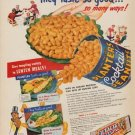 "1953 Planters Peanuts Ad ""They taste so good"""