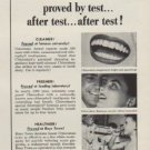 "1953 Chlorodent Ad ""Healthier Mouth"""