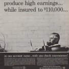 "1963 Edward L. Johnson Ad ""corporate cash"""