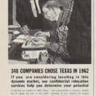 "1963 Bank of the Southwest Ad ""348 Companies Chose Texas"""