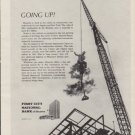 """1963 First City National Bank of Houston Ad """"Going Up!"""""""