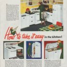 "1948 Kelvinator Ad ""take it easy"""