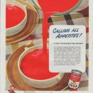 """1948 Campbell's Soup Ad """"Calling All Appetites"""""""