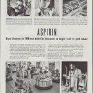 "1948 Bayer Aspirin Ad ""hailed by thousands as magic"""