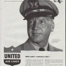 """1948 United Air Lines Ad """"Mainliner"""""""