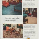 "1948 Bigelow Rugs and Carpets Ad ""new carpet"""