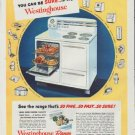 """1948 Westinghouse Ad """"You Can Be Sure"""""""