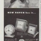 "1948 New Haven Clock And Watch Company Ad ""Ilona Massey"""