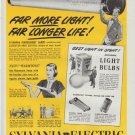 "1948 Sylvania Electric Ad ""Far More Light"""