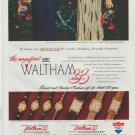 "1948 Waltham Watches Ad ""Series 33"""
