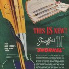 """1952 Sheaffer Pen Ad """"This Is New"""""""