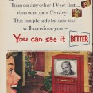 """1952 Crosley Ad """"You can see it"""""""