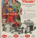 """1952 Presto Cooker Ad """"What a Christmas Present"""""""