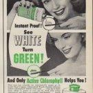 """1952 Colgate Ad """"Chlorophyll Tooth Powder"""""""