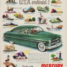 """1950 Ford Mercury Ad """"Just what the U.S.A. ordered!"""""""