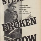 "1950 Broken Arrow Movie Ad ""starring James Stewart"""